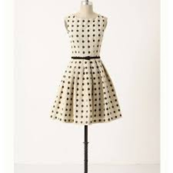 Anthropologie Dresses & Skirts - ANTHROPOLOGIE EVA FRANCO POLKA DOT DRESS - SIZE 4